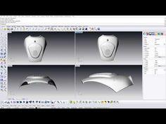 STL flattening example. Rhinoceros + Mesh2Surface - YouTube