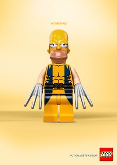 Lego: Fiction meets Fiction Homer x Wolverine = Homerine