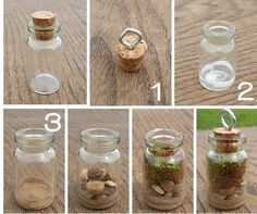 - Bottle Crafts - Terrarium Pendants on the Cheap! Terrariums are all the rage right now and projects for them are popping up all over the interne. Bottle Jewelry, Bottle Charms, Bottle Necklace, Diy Necklace Pendant, Fairy Jewelry, Resin Crafts, Fun Crafts, Diy And Crafts, Arts And Crafts