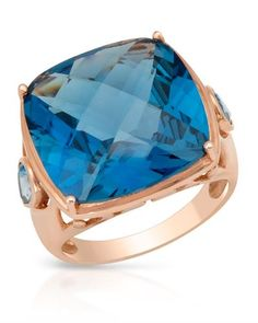 Topaz cocktail ring in gold plated silver. #ring #cocktail #BidzAuctions