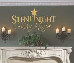 Vinyl Wall Lettering Silent Night Holy Night Christmas Quote