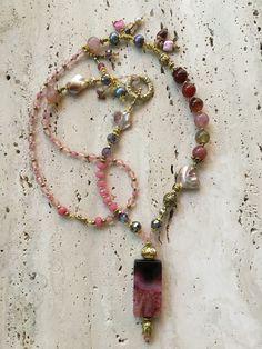 Bohemian Long Pink Necklace