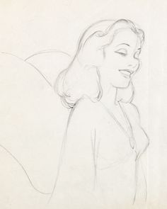 Animation Art:Production Drawing, Pinocchio Blue Fairy Production Drawing (Walt Disney,1940)