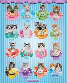 Keith Kimberlin Kitten Cupcakes Mini Poster