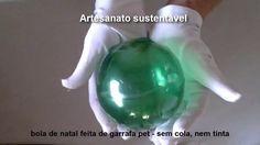 bola de natal feita de garrafas pet- sem cola- fácil - diy - YouTube
