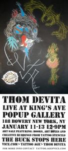 Thom deVita Appearance and Pop-Up Gallery at Kings Ave Tattoo