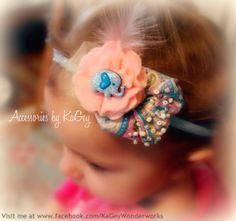 Elephant Feather Girl HeadbandCute handband by KaGeyWonderworks, $12.00