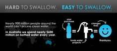 Bottled water company in Australia, giving 100% of profits to clean water projects in developing countries.