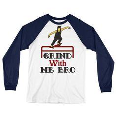 Skateboarding T Shirts   Long Sleeve Baseball T-Shirt   Where to buy cheap skate clothes online?