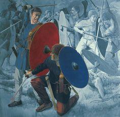 Slaget ved Vimose, ca. 200 e.Kr.,Fyn – Vimose-Schlacht, um 200 n. Chr., Fyn – Vimose Battle, Fyn, about AD 200
