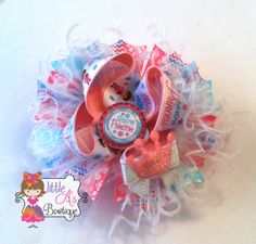 Snow Princess OTT boutique bow over the top by LittleAsBowtique, $12.50