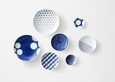 Patterned Japanese porcelain by Nendo for Gen-emon