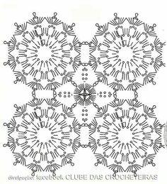 Grafico blusa lila crochet