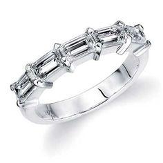Stunning 5 Emerald cut Diamonds!