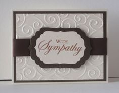 Sympathy Card using Divine Swirls Embossing Folder (?)