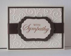Sympathy Card using Divine Swirls Embossing Folder (?)