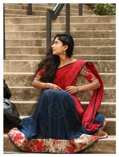 Sai Pallavi Hd Images, Stylish Sarees, Half Saree, South Indian Actress, Indian Beauty Saree, India Beauty, Photo Poses, How Beautiful, Indian Actresses