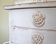 The Polka Dot Closet: How To Make And Add Plaster Appliques Behind Knobs