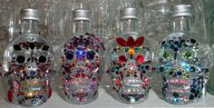 Crystal Head Vodka bottles decorated with Swarovski crystals, $39.00 each by Krazy4Crystals, Please check out my Etsy shops at http://www.etsy.com/shop/YOUniqueDZigns and  http://www.etsy.com/shop/Krazy4Crystals, $39.00