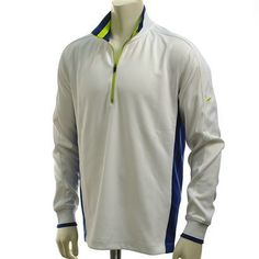 Nike Golf Men's Dri-FIT Half-Zip Cover Up (White, Medium) by Nike. $74.95. Block out the chill in the Nike Dri-FIT Half-Zip Men's Golf Cover UP Shirt. An essential layer, this shirt has Dri-FIT fabric that pulls sweat to the fabric's surface and away from the skin for a comfortable fit.
