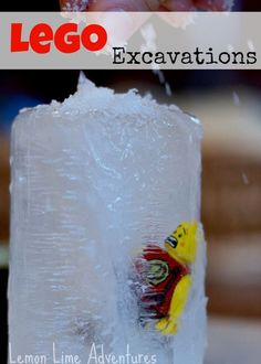 Lego Science Experiment: Ice Excavations from Lemon Lime Adventures