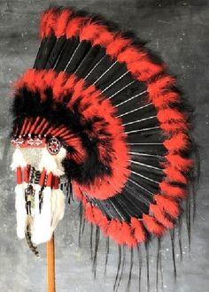 Native American Black Hawk War Bonnet Headdress   eBay