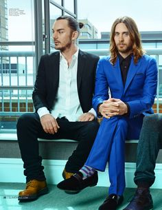 Exclusive Interview With Thirty Seconds To Mars. Jared Leto, Shannon Leto and Tomo Miličević talk to Glamoholic magazine about the band's new album, Love Lust Faith + Dreams! Thirty Seconds, 30 Seconds, Jered Leto, Shannon Leto, Love And Lust, Hot Actors, Sharp Dressed Man, American Actors, Stylish Men