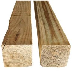Not all 4x4 lumber is treated equally. One of these two 4x4s will decay faster than the other. Can you tell which one?