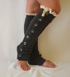 dark-grey-cable-knit-lace-leg-warmers