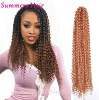 "Freetress Wand Curl Synthetic Braiding Hair 22"" Bouncy Twist Crochet Braids Hair Extesnion Afro Braid Kinky Curly Hairstyle"