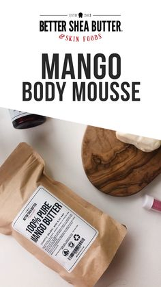 Mango Body Mousse DIY Kit - Everything you need to make our famous recipe for Mango Body Mousse. Includes ingredients, recipe card and tutorial video. Sugar Scrub Homemade, Sugar Scrub Recipe, Homemade Skin Care, Diy Skin Care, Skin Care Tips, Diy Hair Scrub, Diy Body Scrub, Diy Scrub, Diy Body Butter
