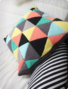 coussins triangles - blog clmandco