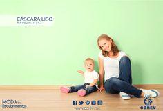 Cuida y protege la salud de tus hijos sin descuidar el diseño y la calidad, Cáscara Liso; Libre de bacterias y alojamiento de hongos eliminando el riesgo de alergias. Ideal para espacios cerrados.
