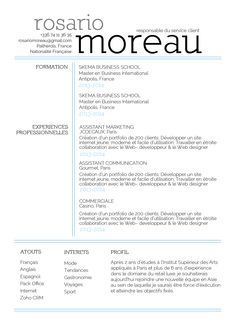 Digne - Très aéré, ce CV inspire légerté et professionalisme. N'hésitez plus une seconde!
