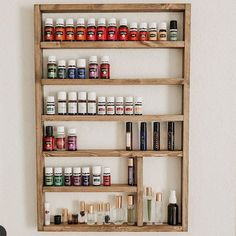 Essential oil shelf, available in many more colors and designs in our Etsy shop.