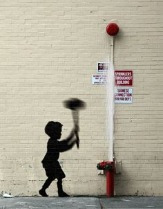 Artist Brings Banksy's Street Art To Life As Animated GIFs - DesignTAXI.com