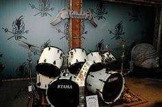 Lars Ulric drum kit era 89' #MetallicaMuseum