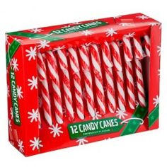 Candy Cane 12 Pack.  Perfect to make these candle holders that I found on Pinterest http://www.pinterest.com/pin/361765782537938092/ #PoundlandChristmas