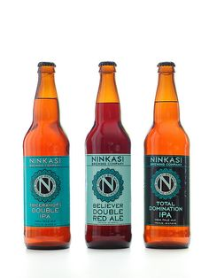 Ninkasi Bottled  The Ancient Sumerian Goddess of Beer. gotta love it.