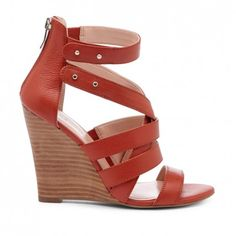 Women's Taupe Multi Leather 4 Inch Open Toe Wedge | Rocio by Sole Society