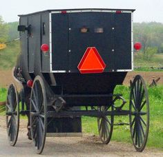Amish buggy on a rural road in River Country of Greater St. Joseph County, Michigan.  Photo owned by Cheryl Lombard.