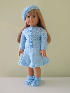 Knitted dolls clothing18 inches doll american by GalyaKireva, $35.00