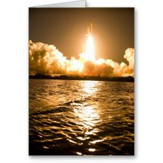 Space Shuttle Lift Off Card