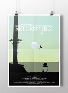 Episode VI: Return of the Jedi minimalist poster by Joe Elam  #starwars #illustration #endor #episode6 #episodeVI #fanart #returnofthejedi #vector #graphicdesign #digitalillustration