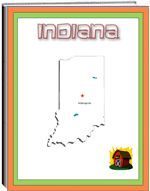 Thematic Unit - Indiana - Each state thematic unit is 13 pages. They offer information about the following: history, Capital, flag, tree, bird, flower, size, location, climate, topography, industry, natural resources, waterways  The following pages are also included: questions, word unscramble, spelling, state map, add your own information, answers