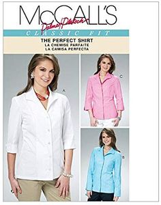 Mc Calls the perfect blouse Chanel Couture, Cool Jackets, Chanel Fashion, Faux Wrap Dress, Timeless Fashion, Stretch Fabric, New Look, Compliments, Sewing Patterns