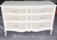 Two-Toned Drexel Touraine Bedroom Set White Bedroom Furniture French, Refinished Bedroom Furniture, Vintage Bedroom Furniture, Bedroom Furniture Design, Distressed Furniture, Paint Furniture, Furniture Makeover, Cheap Furniture, French Provincial Bedroom