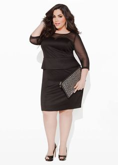e1859900 Little black dress Trendy Plus Size Fashion, Curvy Women Fashion, Big  Fashion, Ladies
