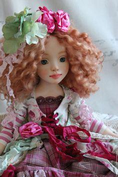 Купить Фике! - фуксия, мятный, розовый, кукла ручной работы, кукла, кукла в подарок