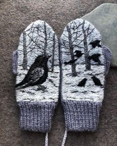 Knitted Mittens Pattern, Knit Mittens, Mitten Gloves, Embroidery Designs, Wool Shop, Hand Warmers, Needlework, Knitting, My Style